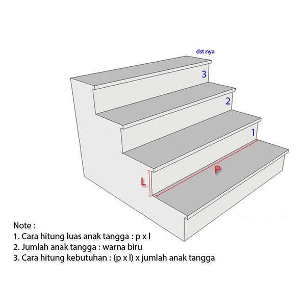 3D Stairway Wallpaper Custom - Tangga | STR - 1081