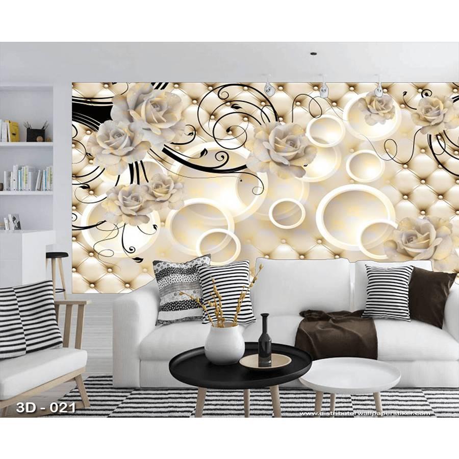 3D Custom Wallpaper Dinding | 3D - 021 - Klasik bunga1