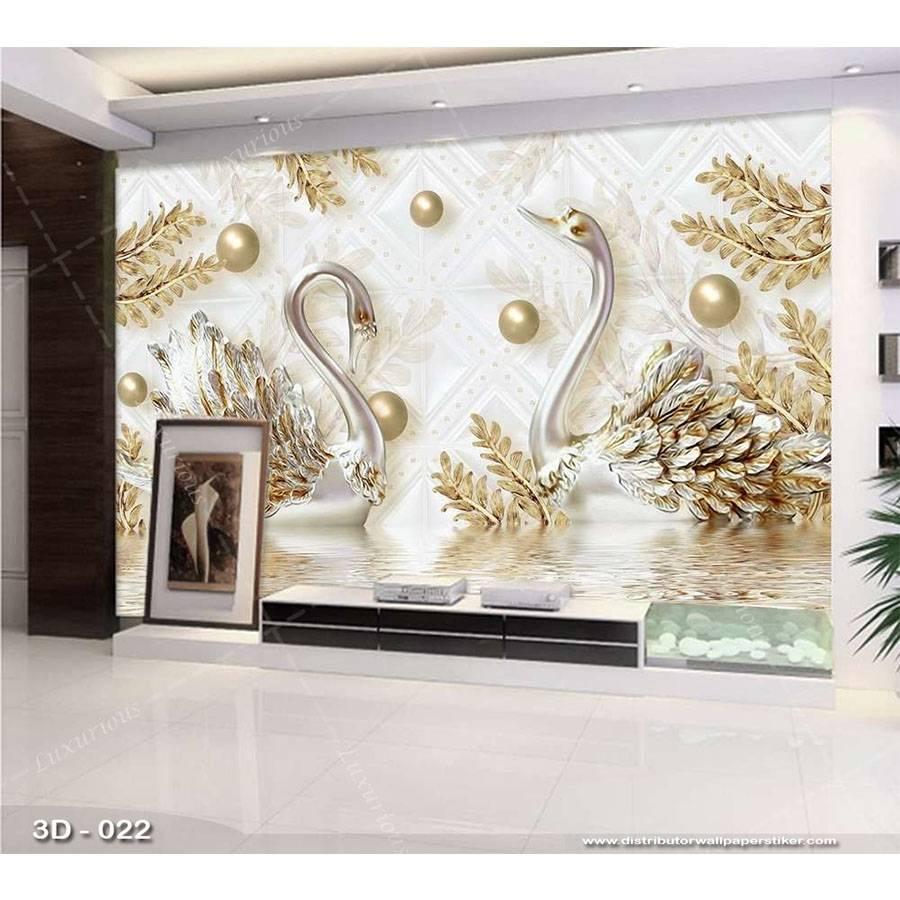 3D Custom Wallpaper Dinding | 3D - 022 - Klasik bunga