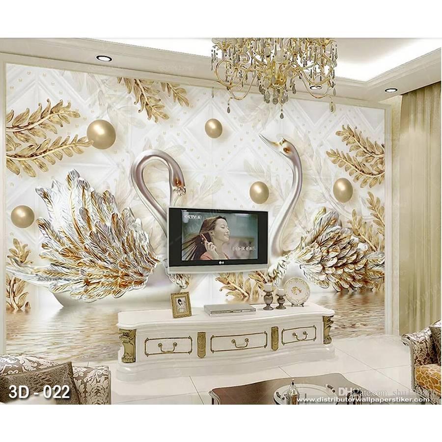 3D Custom Wallpaper Dinding | 3D - 022 - Klasik bunga1