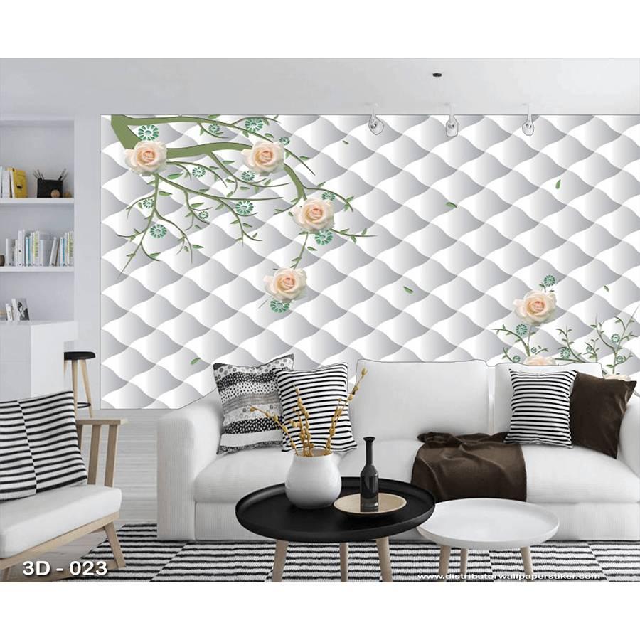 3D Custom Wallpaper Dinding | 3D - 023 - Klasik bunga