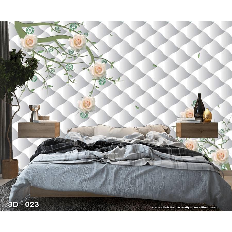 3D Custom Wallpaper Dinding | 3D - 023 - Klasik bunga1