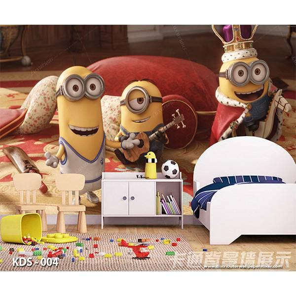 3D Custom Wallpaper Dinding | Motif Minions - KDS - 0040