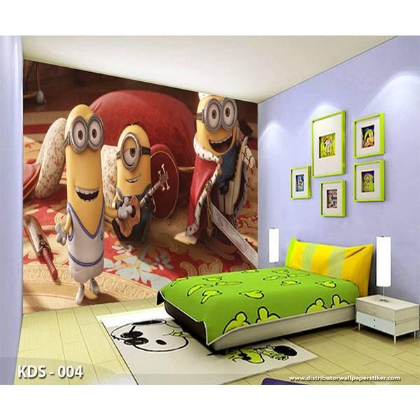 3D Custom Wallpaper Dinding | Motif Minions - KDS - 0041