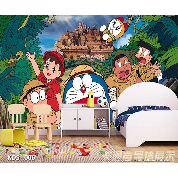 3D Custom Wallpaper Dinding | Motif Doraemon - KDS - 0060