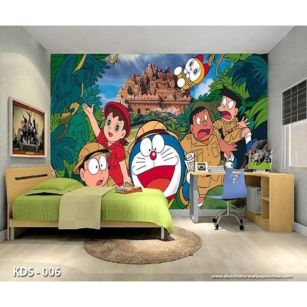3D Custom Wallpaper Dinding | Motif Doraemon - KDS - 0061