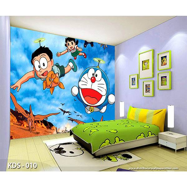 3D Custom Wallpaper Dinding | Motif Doraemon - KDS - 0100