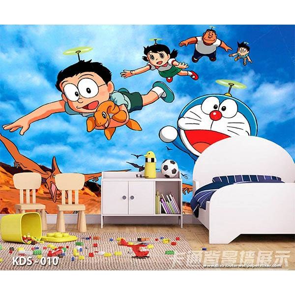 3D Custom Wallpaper Dinding | Motif Doraemon - KDS - 0101