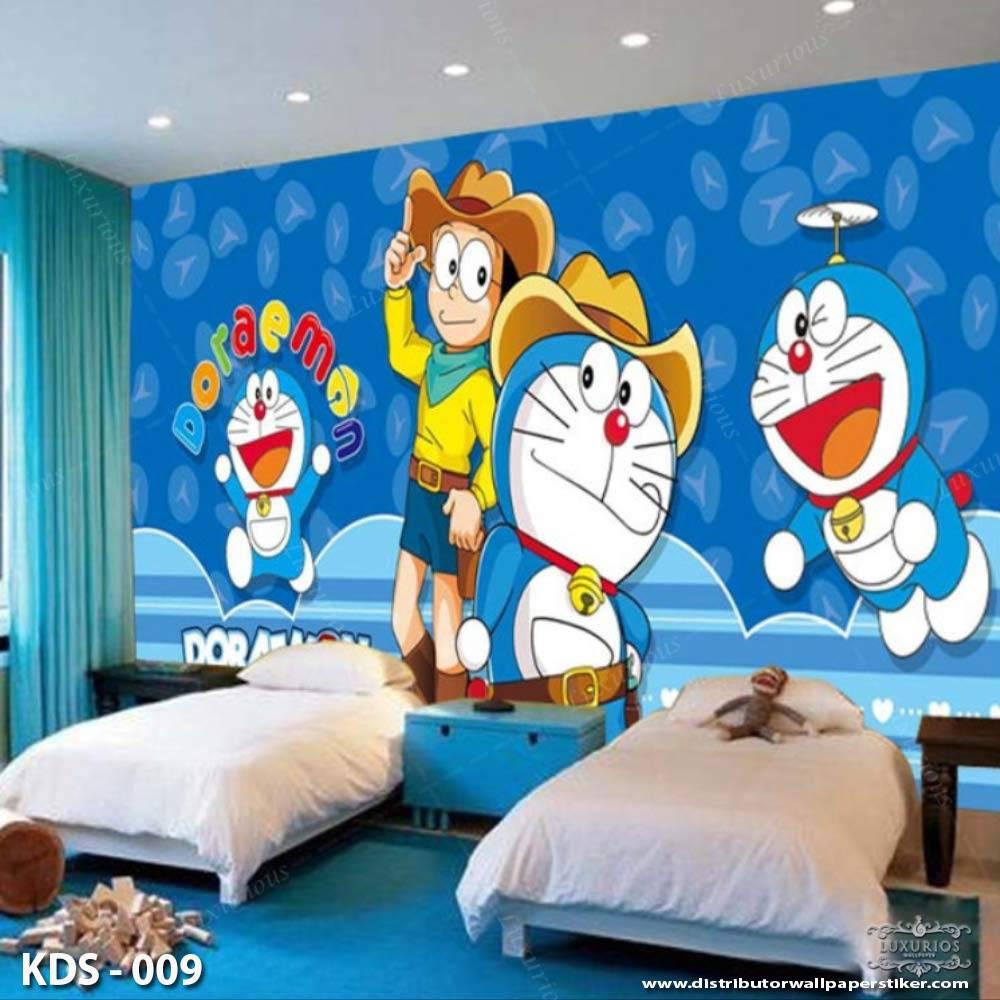 3D Custom Wallpaper Dinding | Motif Doraemon - KDS - 0090