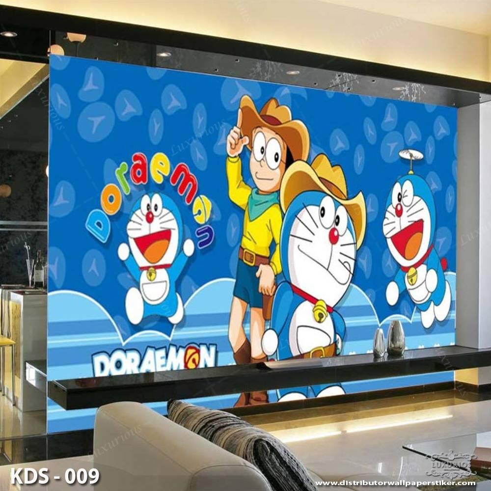 3D Custom Wallpaper Dinding | Motif Doraemon - KDS - 0091