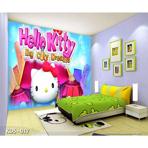 3D Custom Wallpaper Dinding | Motif Helo Kitty - KDS - 0171