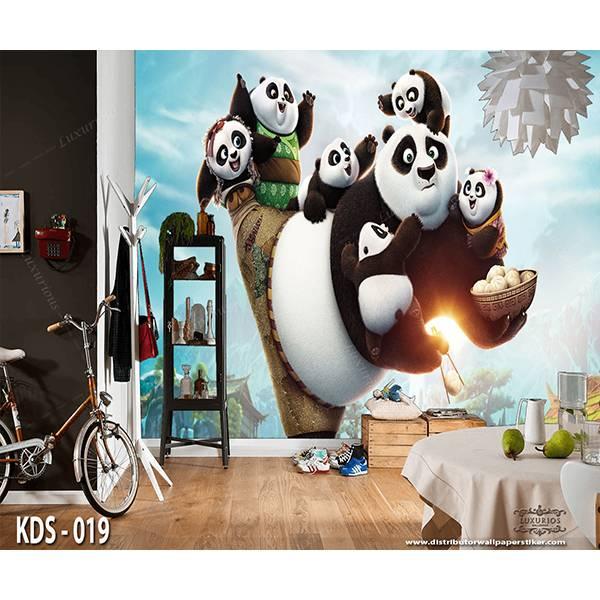 3D Custom Wallpaper Dinding | Motif Kungfu Panda  - KDS - 0190
