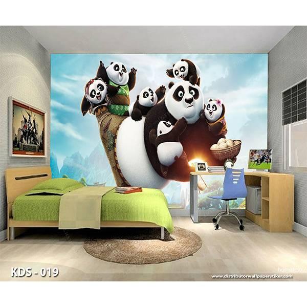 3D Custom Wallpaper Dinding | Motif Kungfu Panda  - KDS - 0191