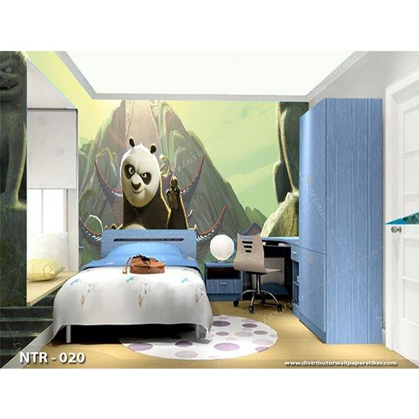 3D Custom Wallpaper Dinding | Motif Kungfu Panda  - KDS - 0200