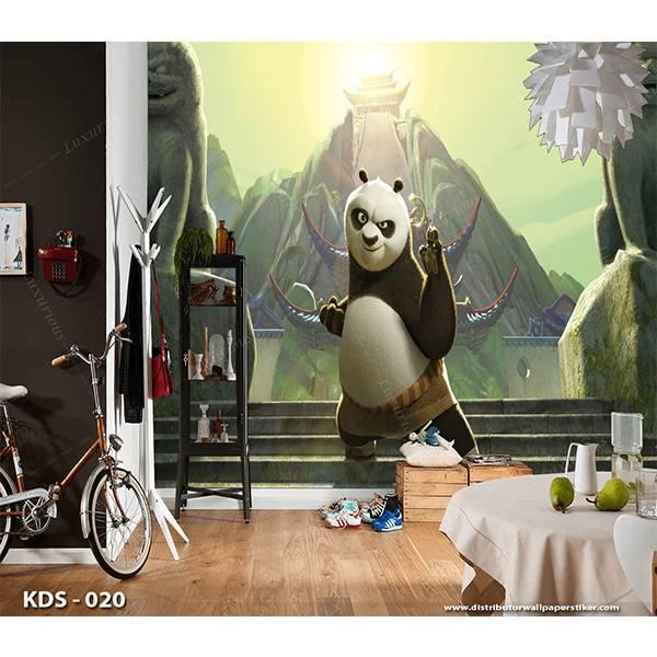3D Custom Wallpaper Dinding | Motif Kungfu Panda  - KDS - 0201