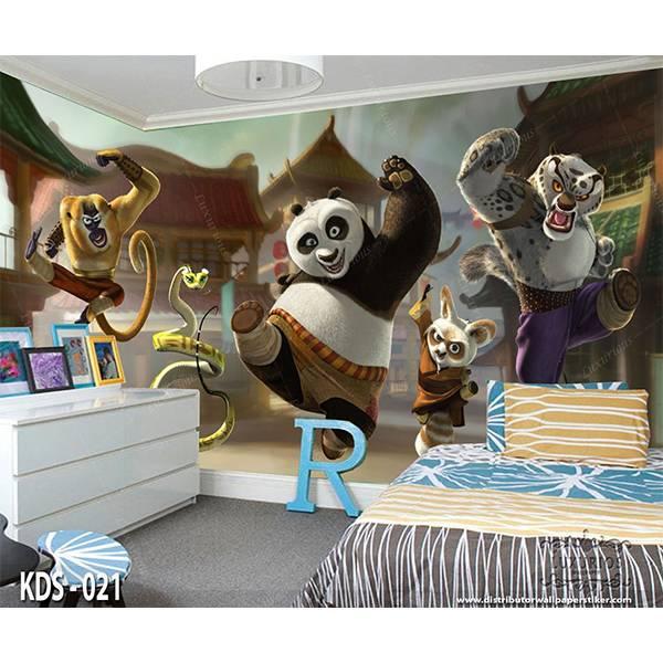 3D Custom Wallpaper Dinding | Motif Kungfu Panda - KDS - 0210