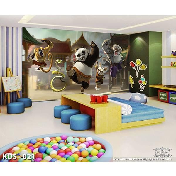 3D Custom Wallpaper Dinding | Motif Kungfu Panda - KDS - 0211