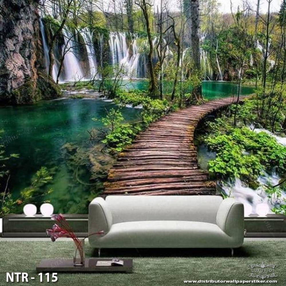 3D Wallpaper Dinding Jembatan | NTR - 1150