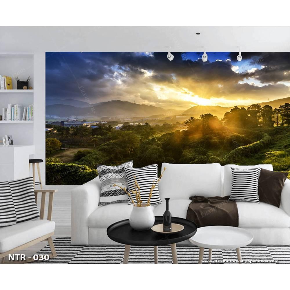 3D Wallpaper Custom Dinding | Pemandangan Alam Bukit - NTR - 0301