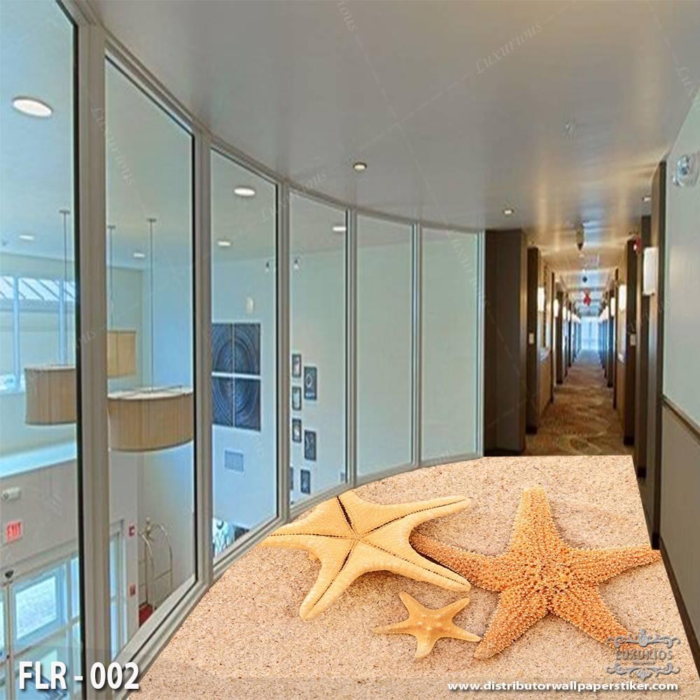 3D Wallpaper Custom Lantai | FLR - 002 Motif pasir pantai1