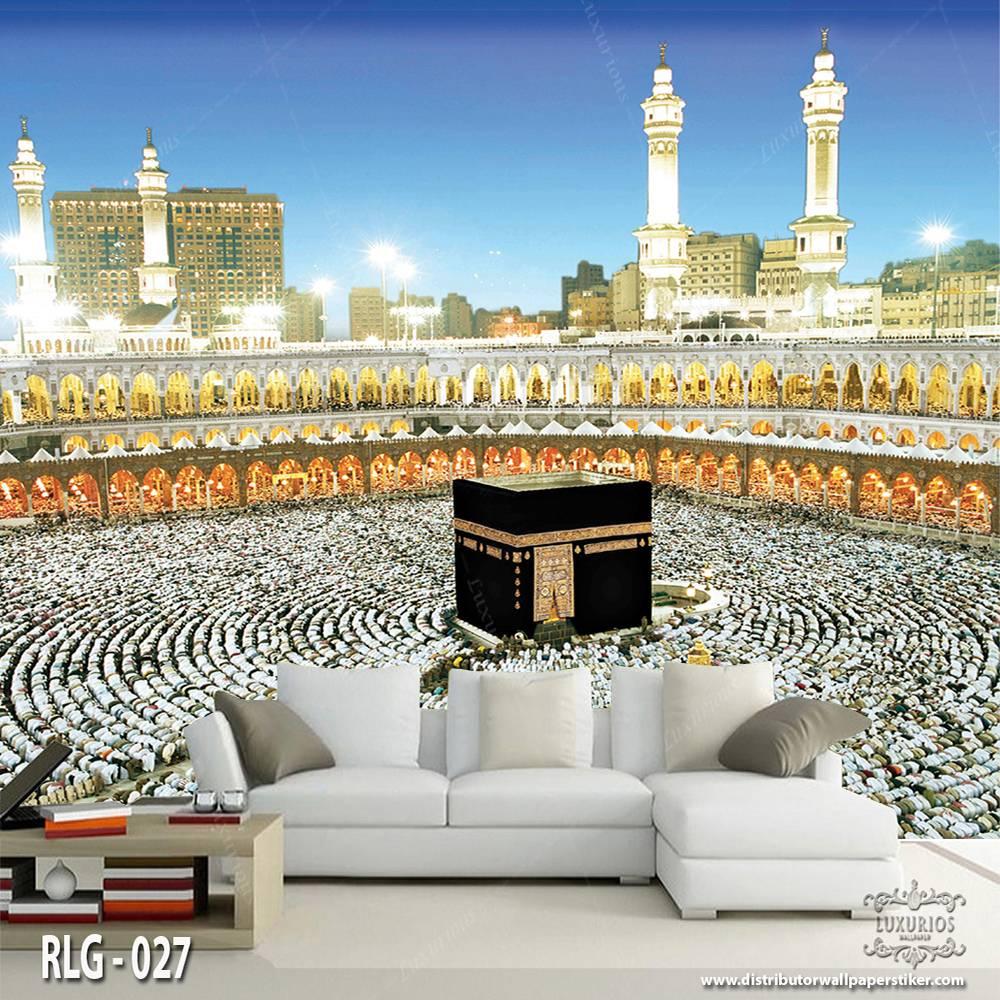 3D Wallpaper Dinding   Motif Ka'bah - RLG - 0270