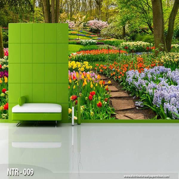 3D Custom Wallpaper Dinding - Motif  Garden/Taman | NTR - 0090