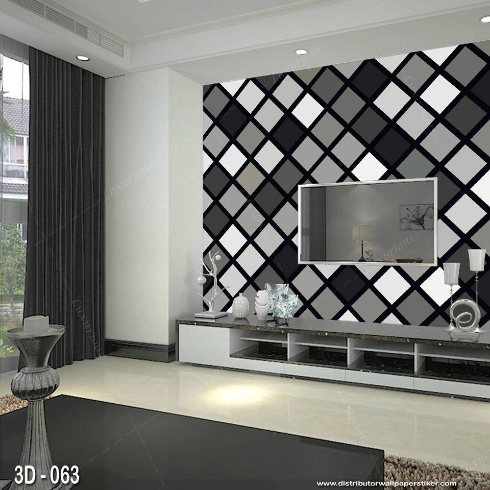 3D Custom Wallpaper Dinding - Motif 3D ketupat    3D - 0630