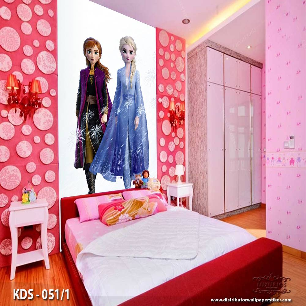 3D Custom Wallpaper Dinding - Motif  Frozen/Elsa | KDS - 051/10