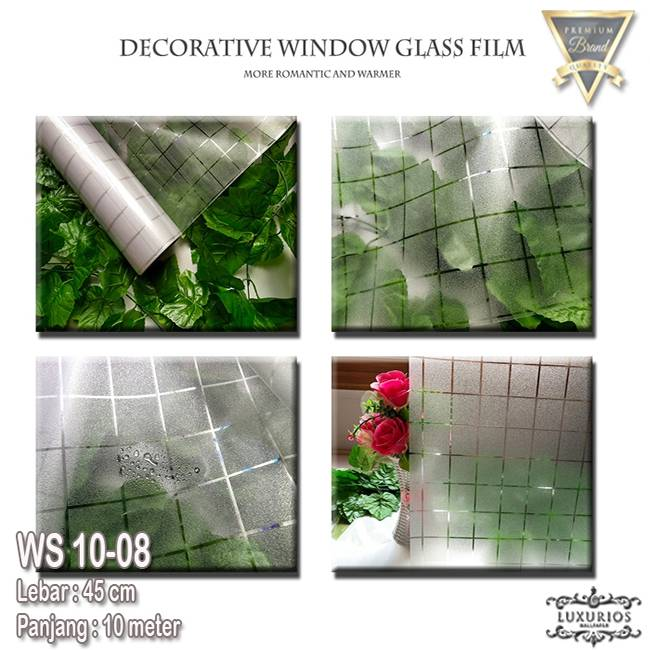 Window Sticker 45cm x 10m Stiker Kaca Motif Kotak/Square | WS 10-082