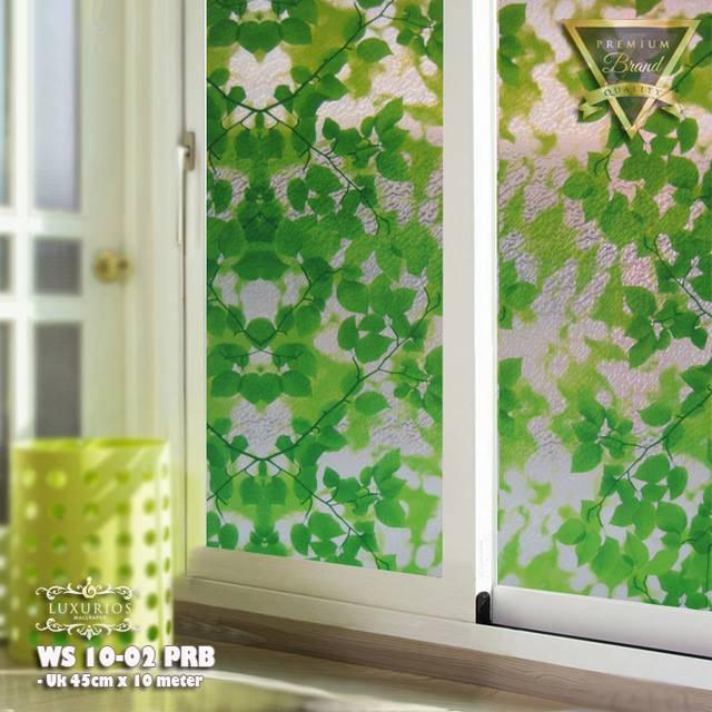 Window Sticker 45cm x 10m Stiker Kaca Motif Daun | WS 10-02
