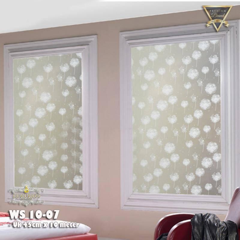 Window Sticker 45cm x 10m Stiker Kaca Motif Bunga Dandelion   WS 10-070