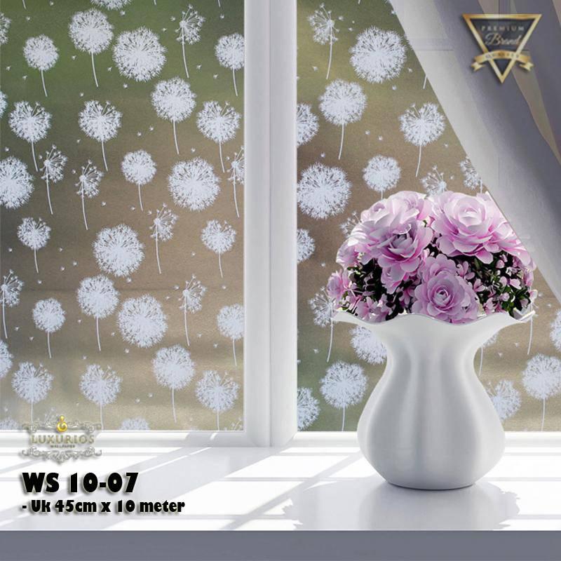Window Sticker 45cm x 10m Stiker Kaca Motif Bunga Dandelion   WS 10-071