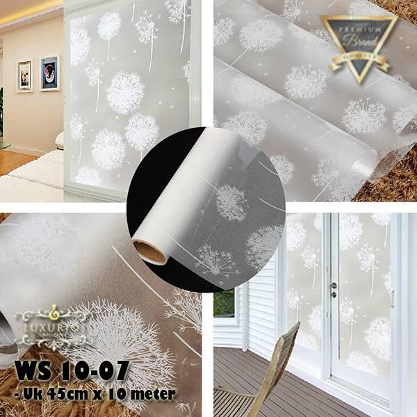 Window Sticker 45cm x 10m Stiker Kaca Motif Bunga Dandelion   WS 10-072