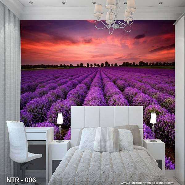 3D Custom Wallpaper Dinding | Wallpaper Pemandangan | Wallpaper Lavender | NTR - 0060