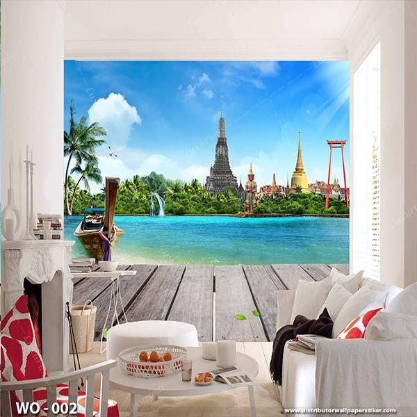 3D Custom Wallpaper Dinding | Wallpaper Pemandangan laut  | WO - 0020