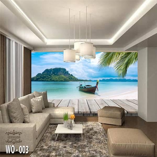 3D Custom Wallpaper Dinding | Wallpaper Pemandangan laut | WO - 0030