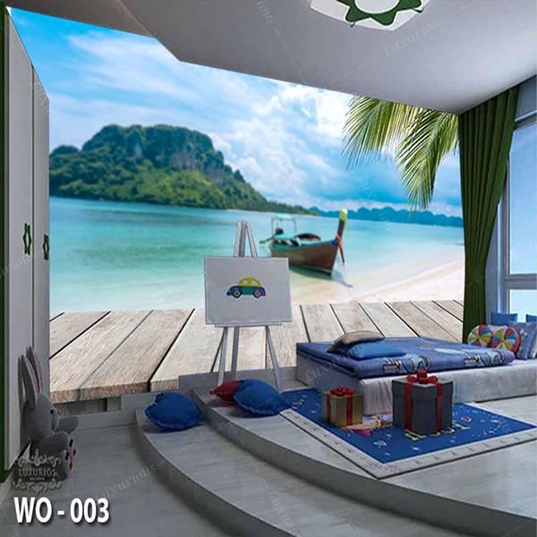 3D Custom Wallpaper Dinding | Wallpaper Pemandangan laut | WO - 0031