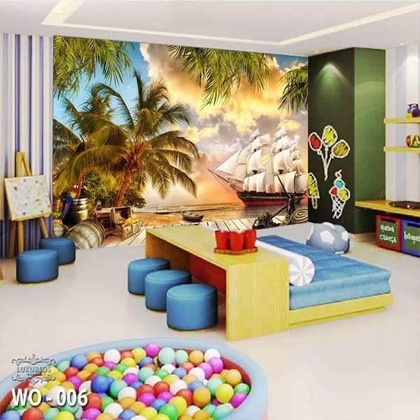 3D Custom Wallpaper Dinding | Wallpaper Pemandangan Fantasy Kapal | WO - 0061