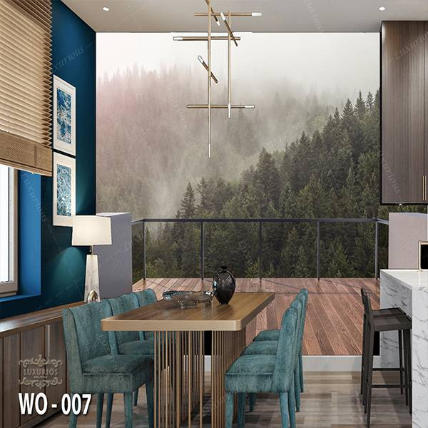 3D Custom Wallpaper Dinding | Wallpaper Pemandangan Bukit dr Balkon | WO - 0071