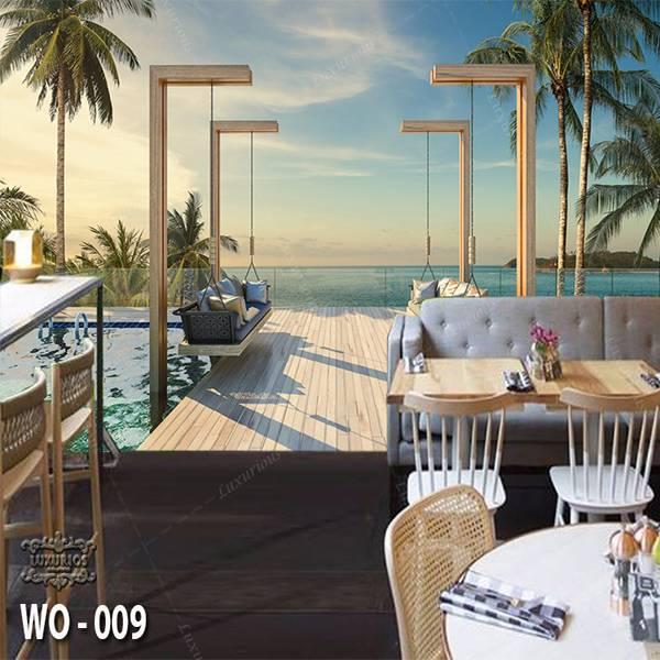 3D Custom Wallpaper Dinding   Wallpaper Pemandangan Pantai   WO - 0090