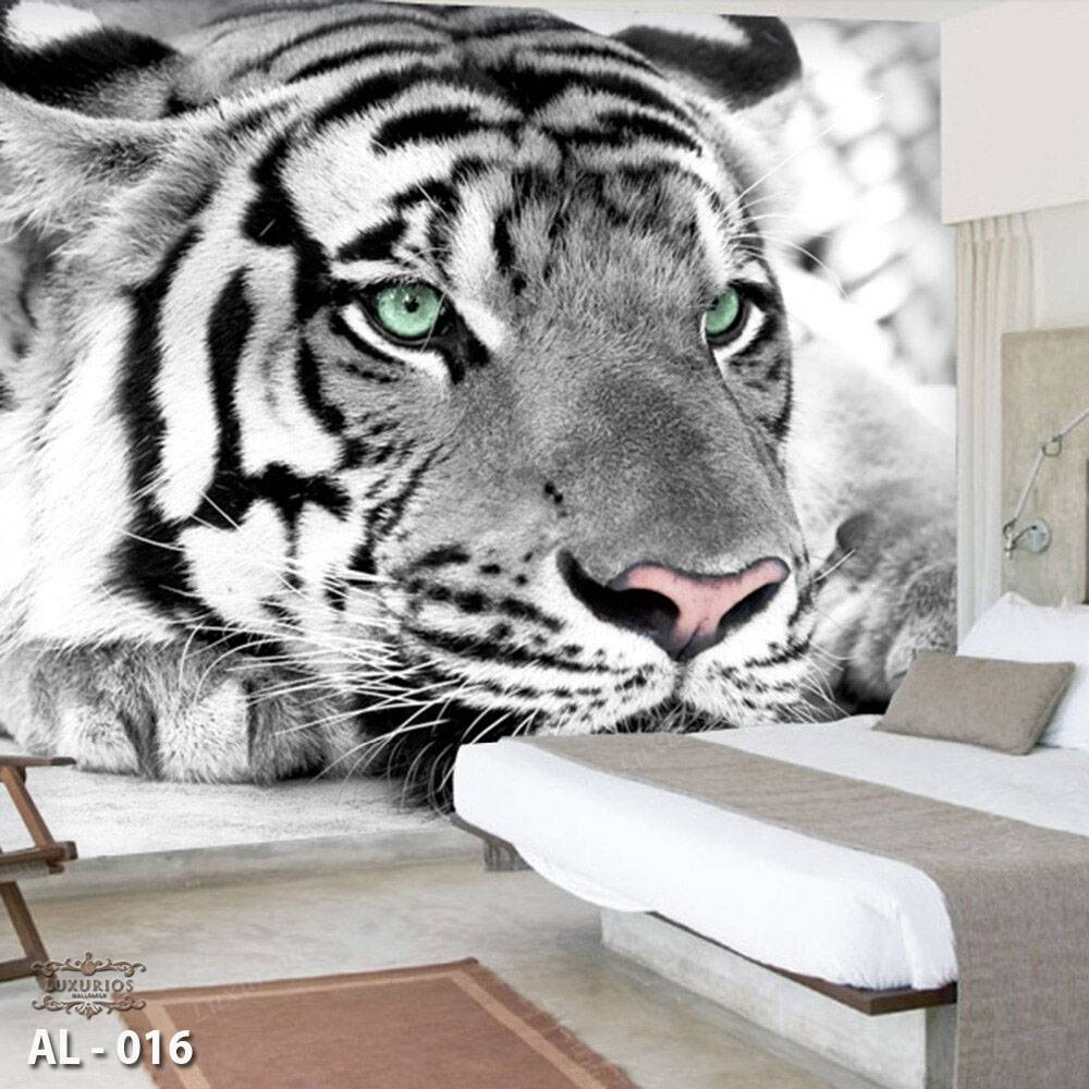 3D Custom Wallpaper Dinding | Wallpaper Animal | Wallpaper Harimau/Tiger | AL -0160