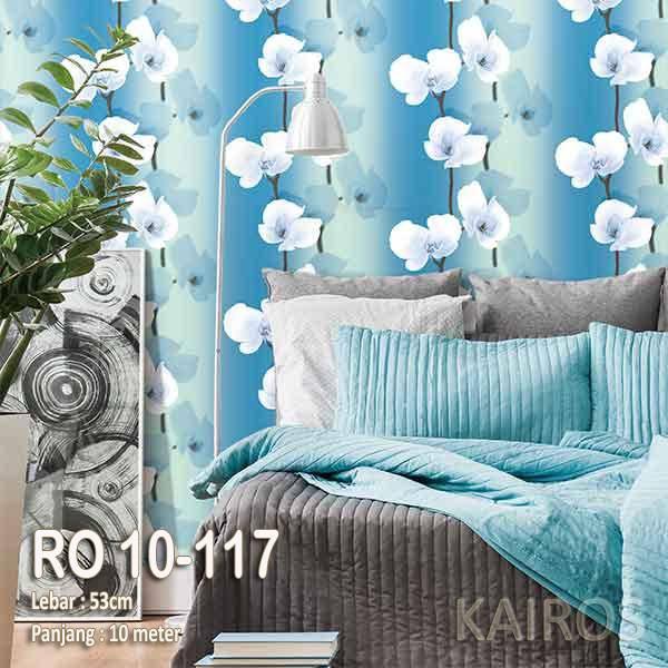 RO 10-117 | Wallpaper Bunga Biru | Wallpaper Premium (BUKAN STICKER)0