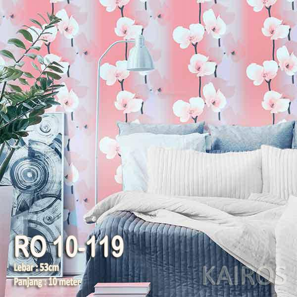 RO 10-119 | Wallpaper Bunga Pink | Wallpaper Premium (BUKAN STICKER)0