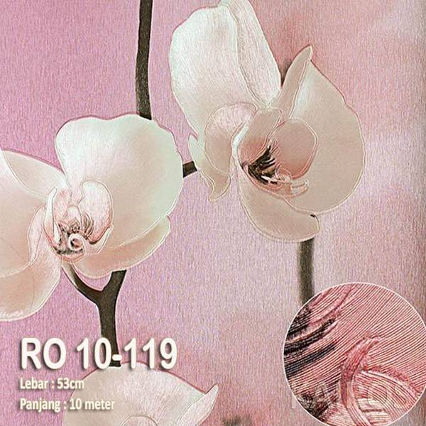 RO 10-119 | Wallpaper Bunga Pink | Wallpaper Premium (BUKAN STICKER)1