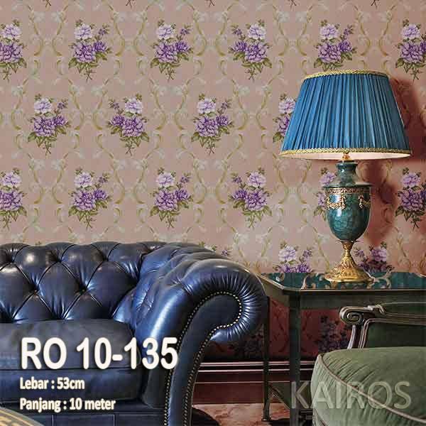 RO 10-135 | Wallpaper Bunga Ungu latar coklat | Wallpaper Premium (BUKAN STICKER)0
