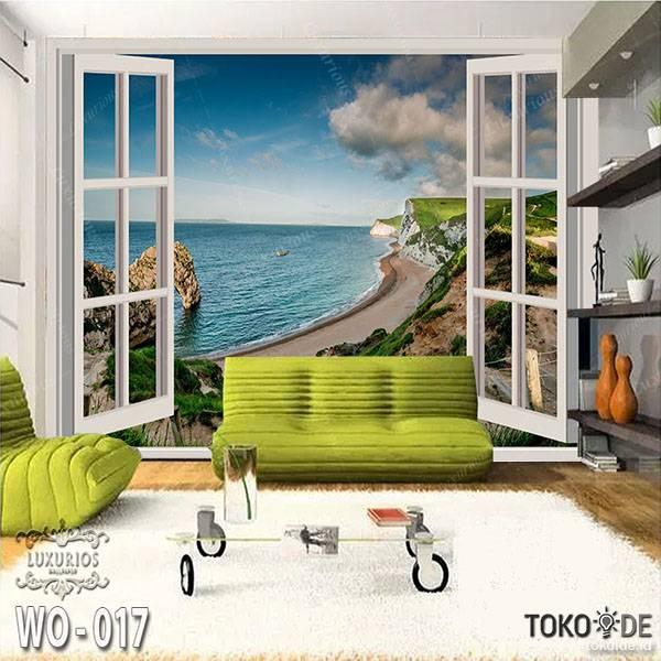 3D WALLPAPER CUSTOM | Pantai Goa Laut Air Terjun | Pemandangan Alam Luar Jendela 22