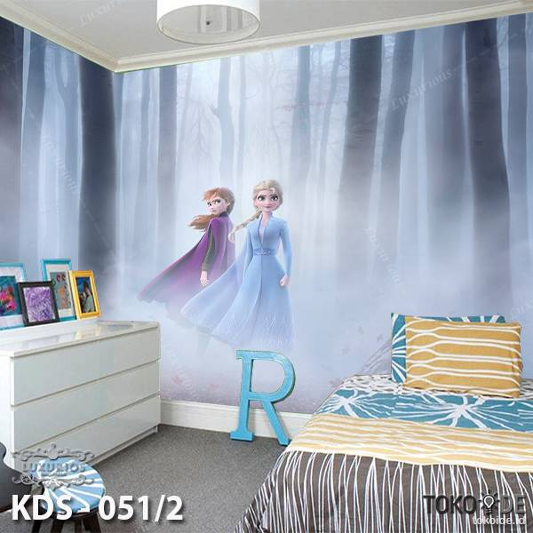3D Custom Wallpaper Dinding - Motif  Frozen/Elsa | KDS - 051/20
