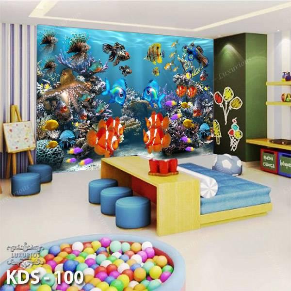 3D Custom Wallpaper Dinding - Motif  Ikan / Underwater / Nemo | KDS - 1000
