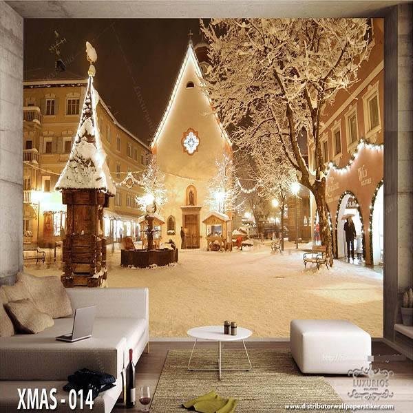 3D Wallpaper Custom Wallpaper Dinding Edisi Natal - XMAS - 0140