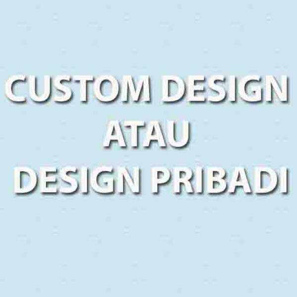 3D Custom Wallpaper Dinding - Motif Custom dari customer | DP - 0010